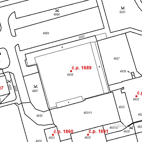 Katastrální mapa Stavební objekt Jirkov 1689, Jirkov