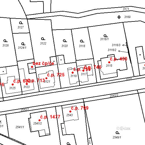Katastrální mapa Stavební objekt Jirkov 759, Jirkov