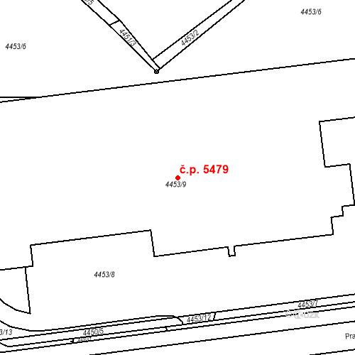 Katastrální mapa Stavební objekt Chomutov 5479, Chomutov