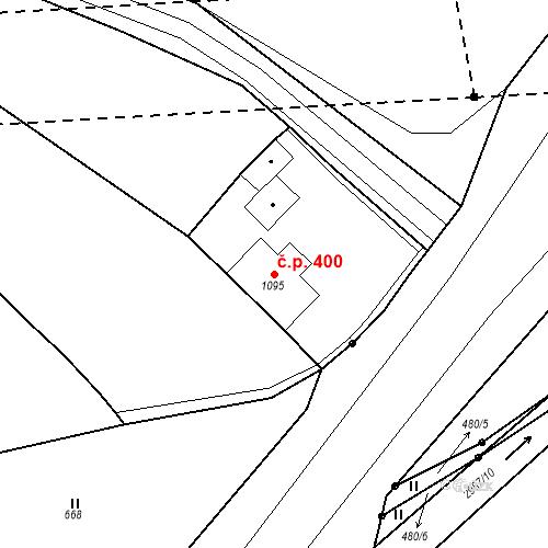 Katastrální mapa Stavební objekt Plzeňské Předměstí 400, Rokycany