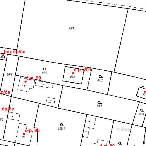 Katastrální mapa Stavební objekt Šťáhlavice 201, Šťáhlavy