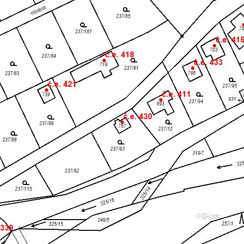 Katastrální mapa Stavební objekt Sedlec 430, Starý Plzenec