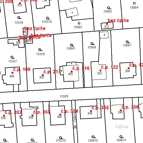 Katastrální mapa Stavební objekt Kašperské Hory 216, Kašperské Hory