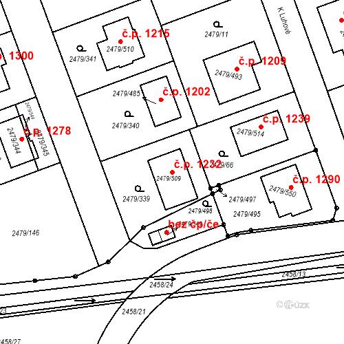 Katastrální mapa Stavební objekt Třemošná 1232, Třemošná