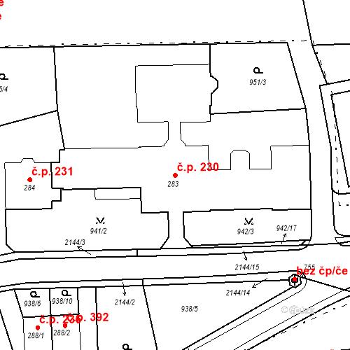 Katastrální mapa Stavební objekt Kašperské Hory 230, Kašperské Hory