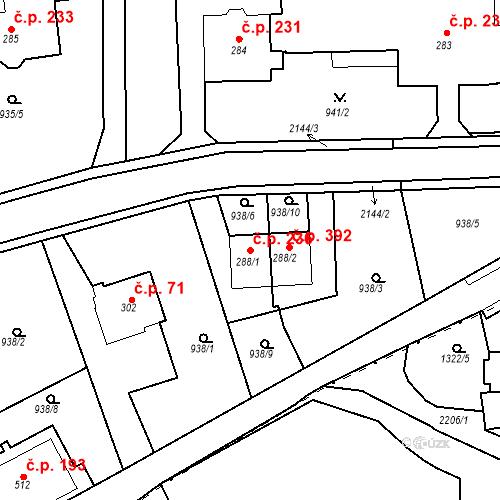 Katastrální mapa Stavební objekt Kašperské Hory 236, Kašperské Hory