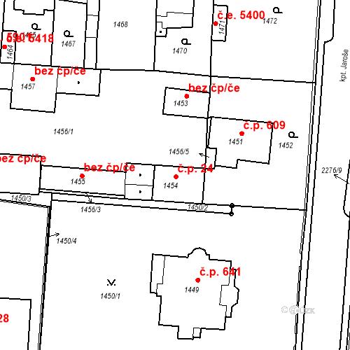 Katastrální mapa Stavební objekt Kadaň 24, Kadaň