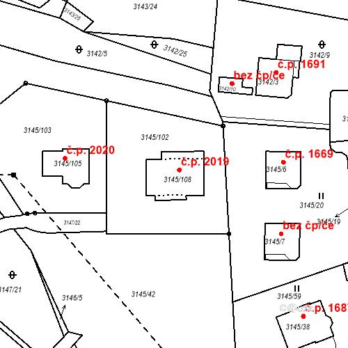 Katastrální mapa Stavební objekt Kadaň 2019, Kadaň