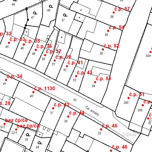 Katastrální mapa Stavební objekt Kadaň 43, Kadaň