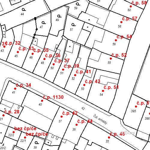 Katastrální mapa Stavební objekt Kadaň 41, Kadaň