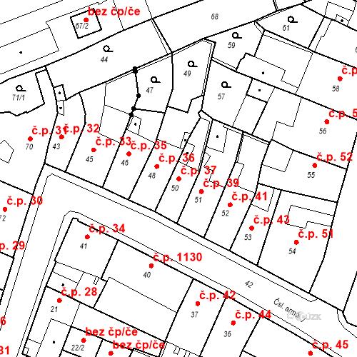 Katastrální mapa Stavební objekt Kadaň 37, Kadaň