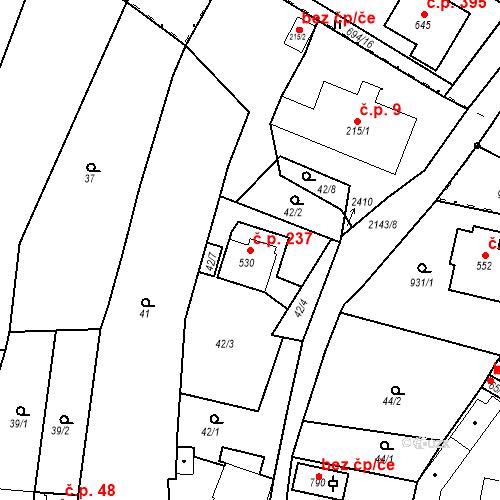 Katastrální mapa Stavební objekt Kašperské Hory 237, Kašperské Hory