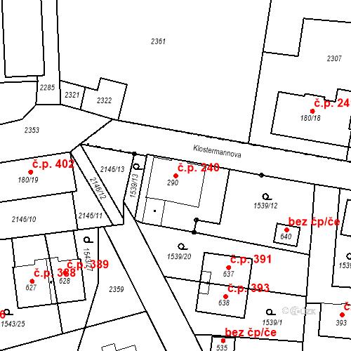 Katastrální mapa Stavební objekt Kašperské Hory 240, Kašperské Hory
