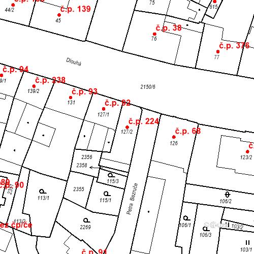 Katastrální mapa Stavební objekt Kašperské Hory 224, Kašperské Hory