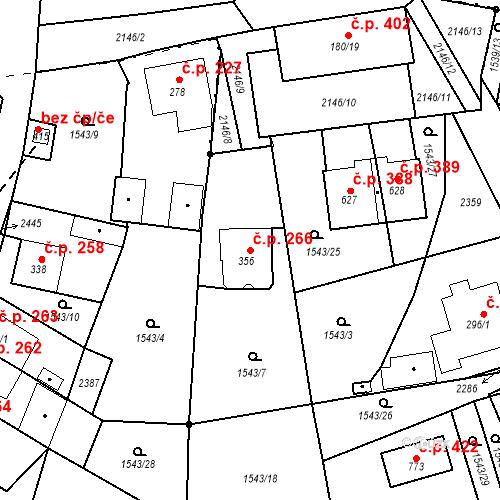 Katastrální mapa Stavební objekt Kašperské Hory 266, Kašperské Hory