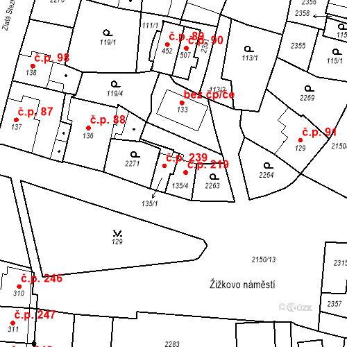 Katastrální mapa Stavební objekt Kašperské Hory 239, Kašperské Hory