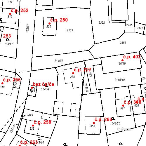 Katastrální mapa Stavební objekt Kašperské Hory 227, Kašperské Hory