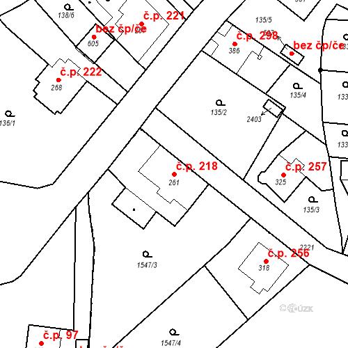 Katastrální mapa Stavební objekt Kašperské Hory 218, Kašperské Hory