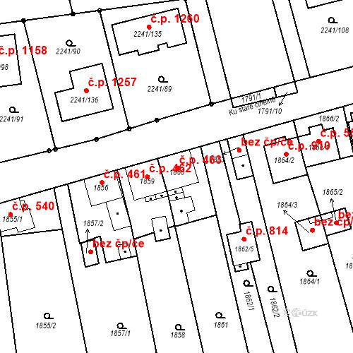 Katastrální mapa Stavební objekt Třemošná 463, Třemošná