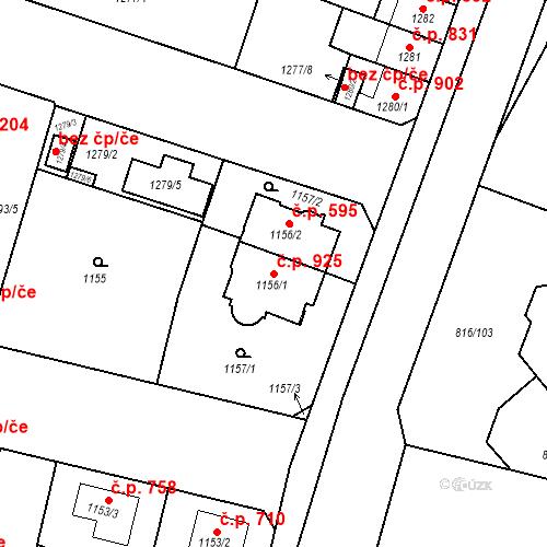 Katastrální mapa Stavební objekt Lobzy 925, Plzeň