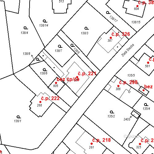 Katastrální mapa Stavební objekt Kašperské Hory 221, Kašperské Hory