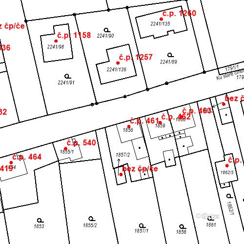 Katastrální mapa Stavební objekt Třemošná 461, Třemošná