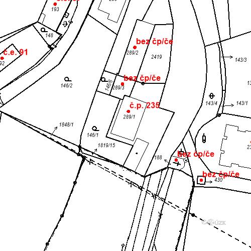Katastrální mapa Stavební objekt Kašperské Hory 235, Kašperské Hory