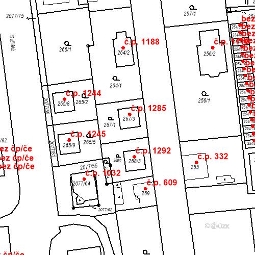 Katastrální mapa Stavební objekt Třemošná 459, Třemošná
