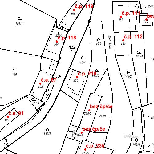 Katastrální mapa Stavební objekt Kašperské Hory 210, Kašperské Hory