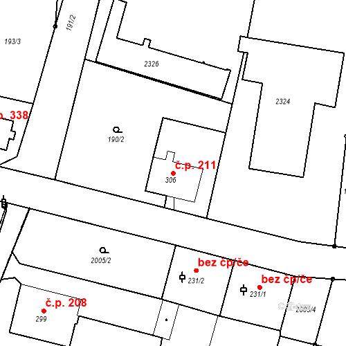 Katastrální mapa Stavební objekt Kašperské Hory 211, Kašperské Hory