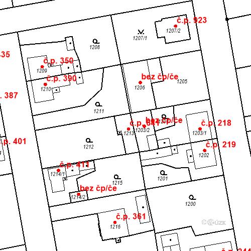 Katastrální mapa Stavební objekt Třemošná 641, Třemošná