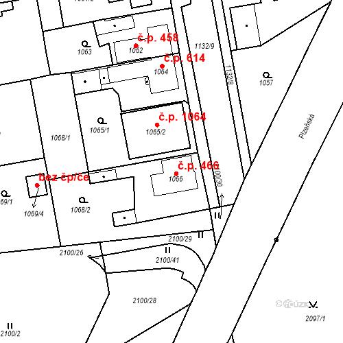 Katastrální mapa Stavební objekt Třemošná 466, Třemošná