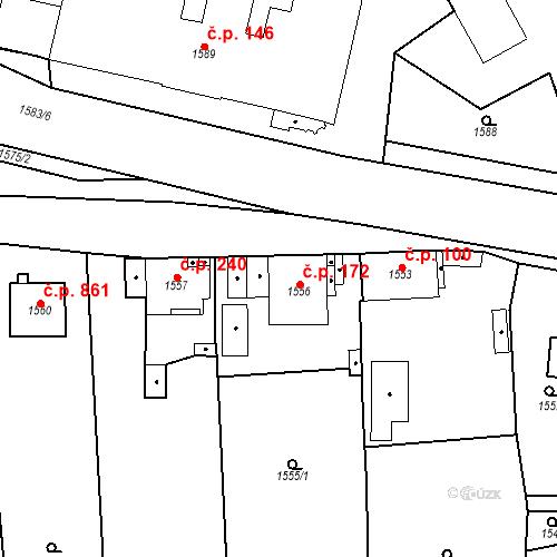 Katastrální mapa Stavební objekt Třemošná 172, Třemošná