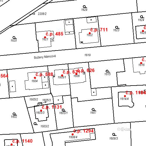 Katastrální mapa Stavební objekt Třemošná 626, Třemošná