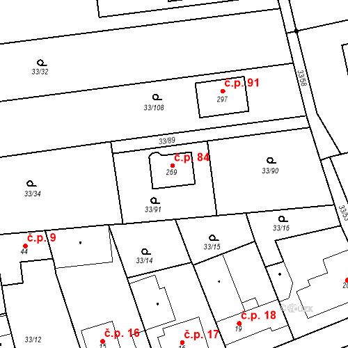 Katastrální mapa Stavební objekt Štěnovický Borek 84, Štěnovický Borek