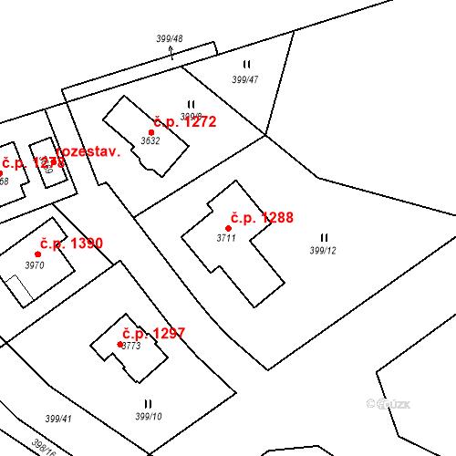 Katastrální mapa Stavební objekt Sušice II 1288, Sušice