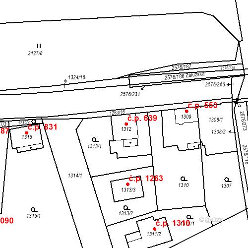 Katastrální mapa Stavební objekt Třemošná 639, Třemošná