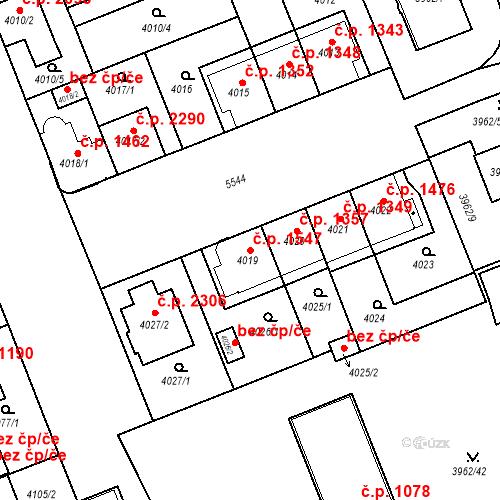 Katastrální mapa Stavební objekt Východní Předměstí 1547, Plzeň