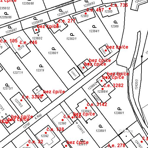 Katastrální mapa Stavební objekt Severní Předměstí 26, Plzeň