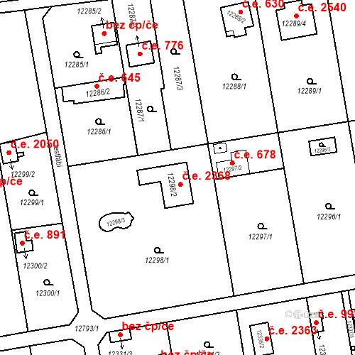 Katastrální mapa Stavební objekt Severní Předměstí 2368, Plzeň
