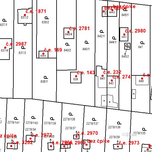 Katastrální mapa Stavební objekt Severní Předměstí 143, Plzeň