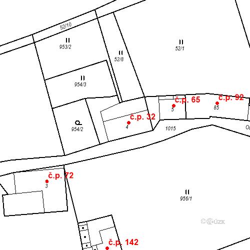 Katastrální mapa Stavební objekt Rejštejn 32, Rejštejn
