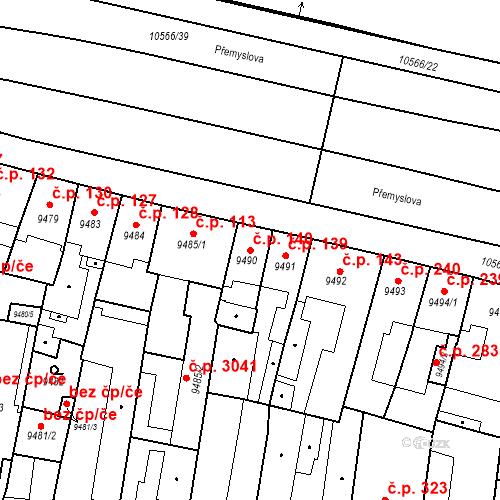Katastrální mapa Stavební objekt Jižní Předměstí 140, Plzeň