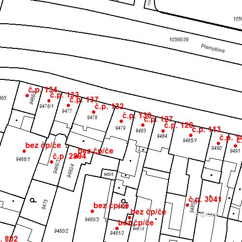 Katastrální mapa Stavební objekt Jižní Předměstí 130, Plzeň