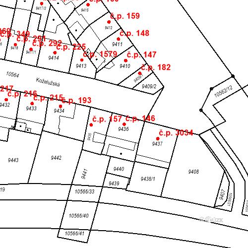 Katastrální mapa Stavební objekt Jižní Předměstí 146, Plzeň