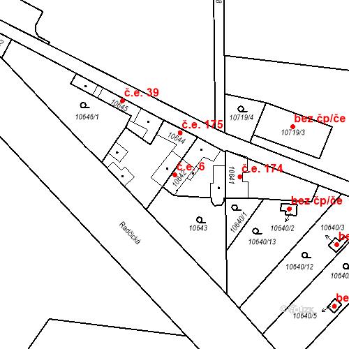 Katastrální mapa Stavební objekt Severní Předměstí 6, Plzeň