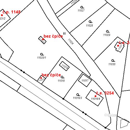 Katastrální mapa Stavební objekt Severní Předměstí 55