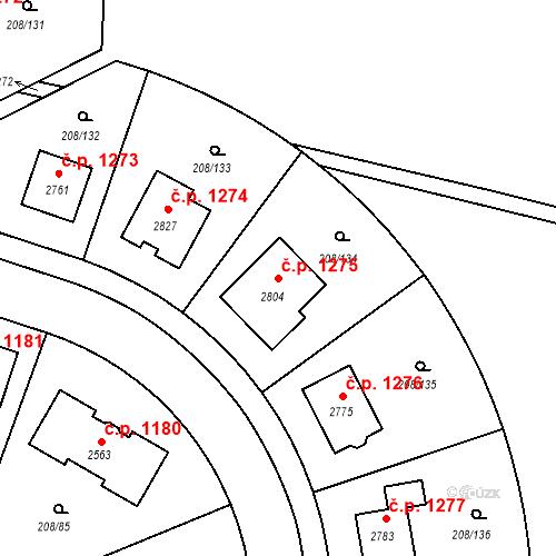 Katastrální mapa Stavební objekt Přeštice 1275, Přeštice