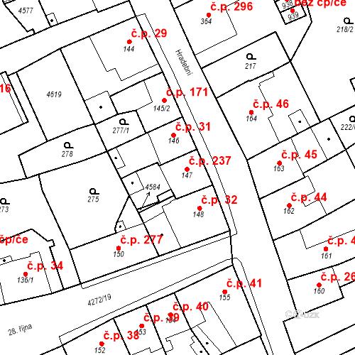 Katastrální mapa Stavební objekt Žlutice 237, Žlutice