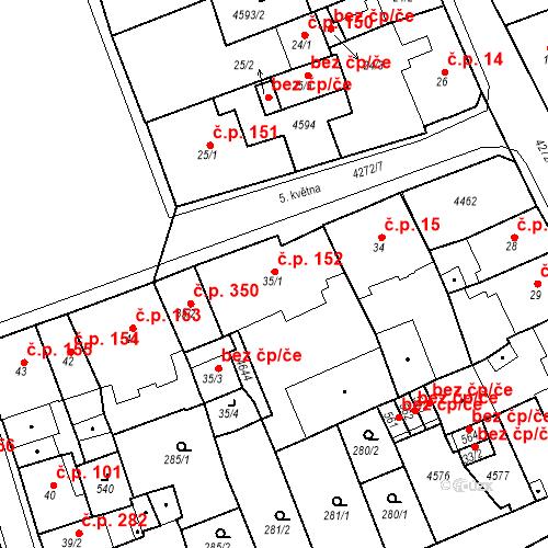 Katastrální mapa Stavební objekt Žlutice 152, Žlutice